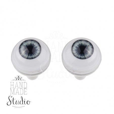 Акриловые глаза для кукол, цвет - фиалковый, 10 мм. Арт. G10LD-07
