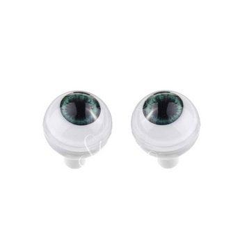 Акриловые глаза для кукол, цвет - серо-зеленые, 8 мм. Арт. G8LD-06