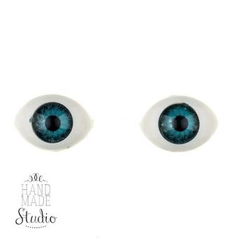 Глаза для кукол,цвет - голубой, 14 мм