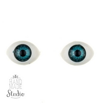 Глаза для кукол,цвет - голубой, 10х14 мм