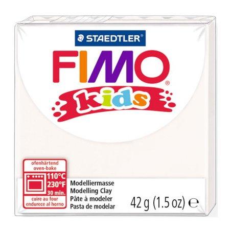 Полимерная глина Fimo kids №0 белый, 42 г