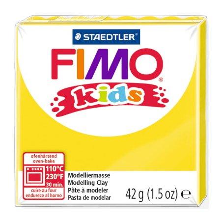 Полімерна глина Fimo kids №1, жовта, 42 г