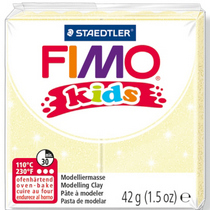 Полимерная глина Fimo kids №106, перламутровый желтый, 42 г