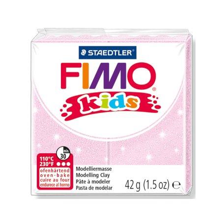 Полимерная глина Fimo kids №206, перламутровый розовый, 42 г