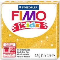 Полимерная глина Fimo kids №112, желтый с глиттером, 42 г