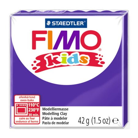 Полімерна глина Fimo kids №6, фіолетова, 42 г