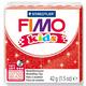Полимерная глина Fimo kids №212, красный с глиттером, 42 г