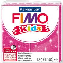 Полимерная глина Fimo kids №262, розовый с глиттером, 42 г