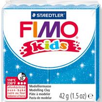 Полимерная глина Fimo kids №312, голубой с глиттером, 42 г