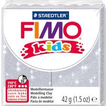 Полимерная глина Fimo kids №812, серый с глиттером, 42 г