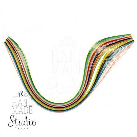 Полоски бумаги разноцветные, 12 цветов, 140501