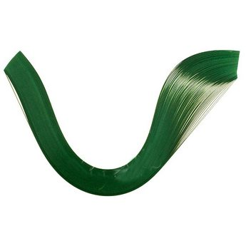 Полоски бумаги однотонные, цвет  темный зеленый, 1605105