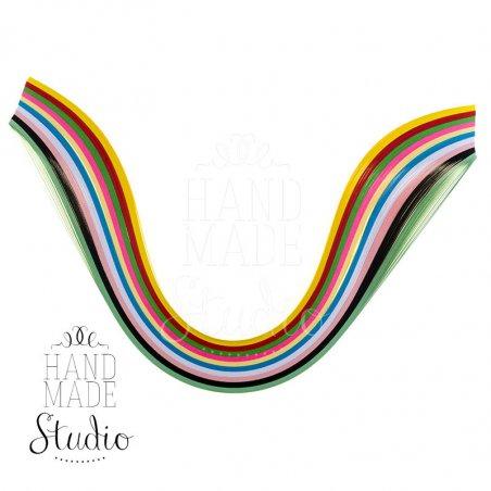 Полоски бумаги разноцветные, 10 цветов, 8020803