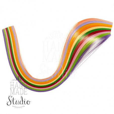 Полоски бумаги разноцветные, 10 цветов, 8020905