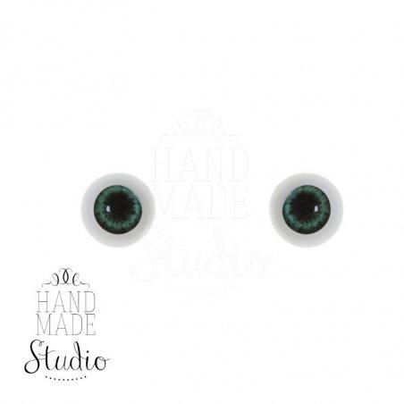 Акриловые глаза для кукол, цвет - зеленый, 6 мм. Арт. G6LD-03