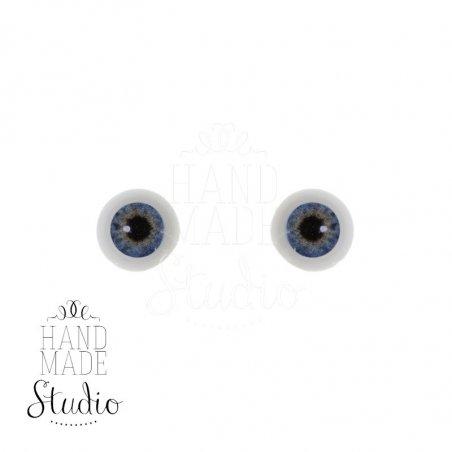 Акриловые глаза для кукол, цвет - жемчужно-голубой, 6 мм. Арт. G6LС-01