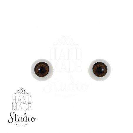 Акриловые глаза для кукол, цвет - серо-коричневый, 6 мм. Арт. G6LD-11