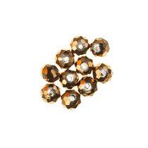 Бусины чешский хрусталь 6 мм, цвет золото №43