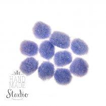Текстильные мохнатые бусины, цвет - фиолетовый, 1 см