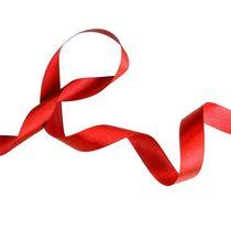 Атласная лента, цвет красный,25 мм