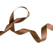 Атласная лента, цвет шоколадный,25 мм