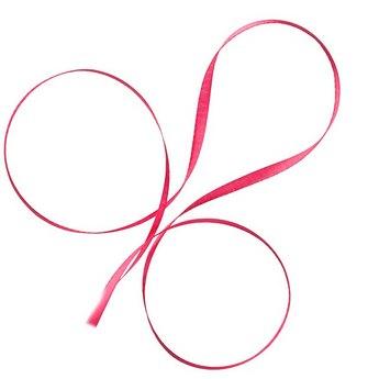 Атласная лента, цвет розовый, 6мм