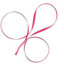 Атласная лента, цвет розовый №24, 7мм