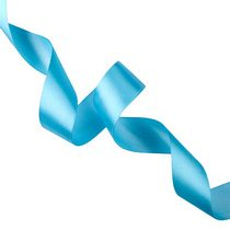 Атласная лента, цвет голубой,40 мм