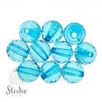 Пластиковые бусины прозрачные, цвет голубой, 1 см
