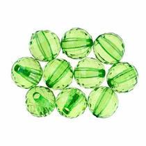 Пластиковые бусины прозрачные, цвет зеленый, 1 см