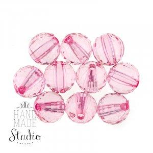 Пластиковые бусины, цвет розовый, 0,6 см