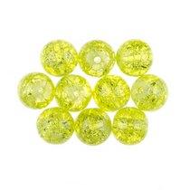 №126 Бусины с эффектом битого стекла лимонные, 1 см, 10 шт