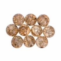 №129 Бусины с эффектом битого стекла бледно-коричневые, 1 см, 10 шт
