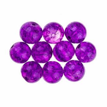 №131 Бусины с эффектом битого стекла фиолетовые, 10 мм