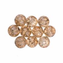№142 Бусины с эффектом битого стекла светло-коричневые, 8 мм
