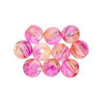 №148 Бусины с эффектом битого стекла персиково-розовые, 8 мм