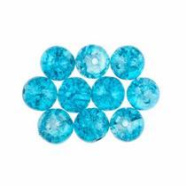 №150 Бусины с эффектом битого стекла небесно-голубые, 8 мм