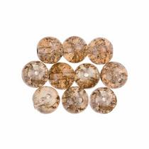 №161 Бусины с эффектом битого стекла светло-коричневые, 6 мм