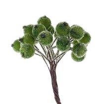 Ягода декоративная  сахарная, цвет зеленый, 20 двухсторонних ягод