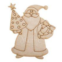 Деревянная заготовка Дед Мороз, 6х7,5 см