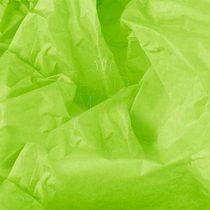 Бумага тишью, цвет - яблочно-зеленый, 50х65 см, 10 листов