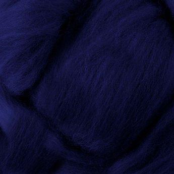 Шерсть для валяния 100% Темный синий №9