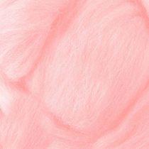 Шерсть для валяния 100% Светлый розовый №26