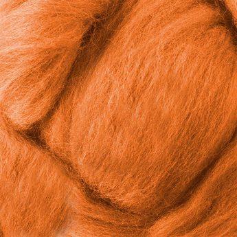 Шерсть для валяния 100% Морковный №12