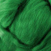 Шерсть для валяния 100%  (22-24 мк.) Зеленый №27, 50г.
