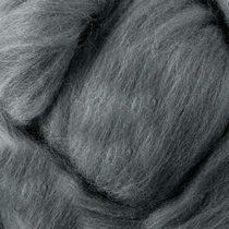 Шерсть для валяния 100% (22-24 мк.) Серый меланж №36, 50г.