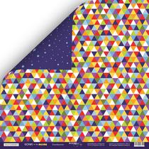 Лист двусторонней бумаги 30x30 от Scrapmir Калейдоскоп из коллекции Tiicket to the MOON