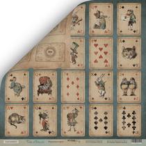 Лист двусторонней бумаги 30x30 от Scrapmir Игральные карты из коллекции Time to Dream, 190г/м2, 1шт