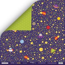 Лист двусторонней бумаги 30x30 от Scrapmir Вселенная из коллекции Tiicket to the MOON, 190г/м2, 1шт