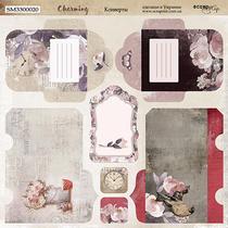Лист двусторонней бумаги 20х20см Конверты Charming от Scrapmir, 190г/м2, 1 лист